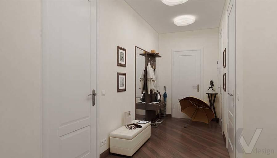 Дизайн 3 комнатной квартиры ЖК Богородский, прихожая - 3