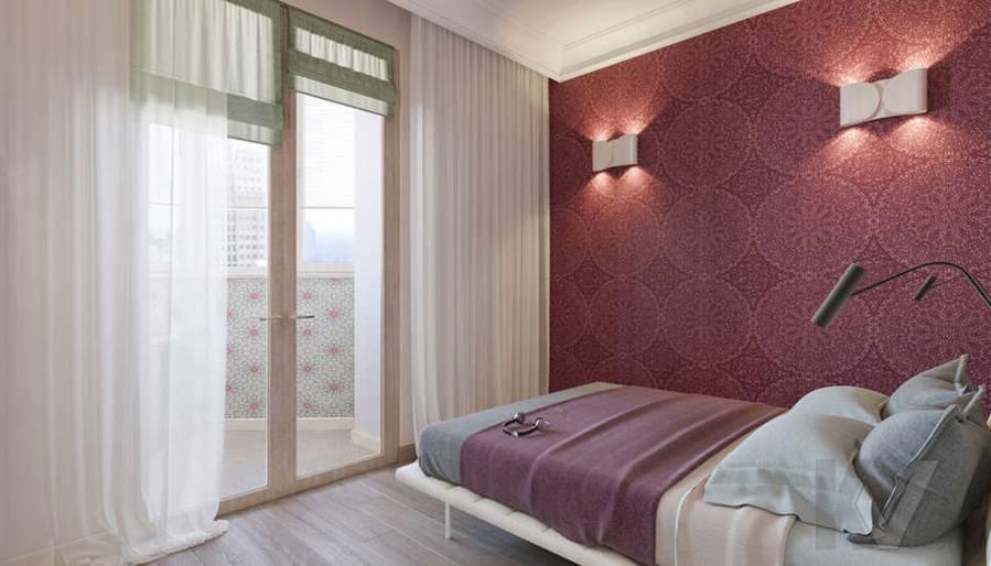 дизайн спальни в квартире на Мосфильмовской - 1