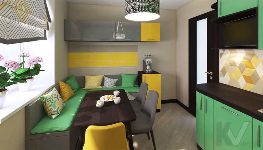 дизайн кухни в квартире П-3М, Владыкино - 1