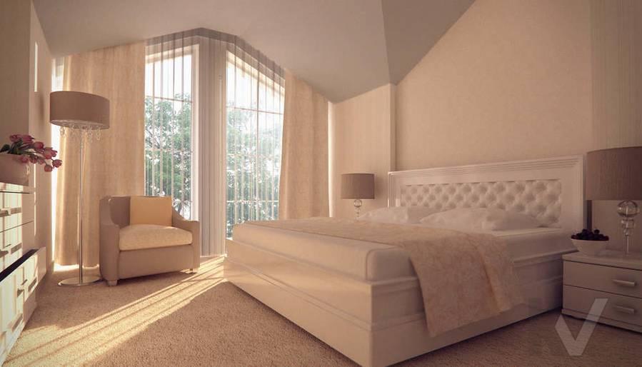 Дизайн таунхауса в п. Жаворонки, спальня-1
