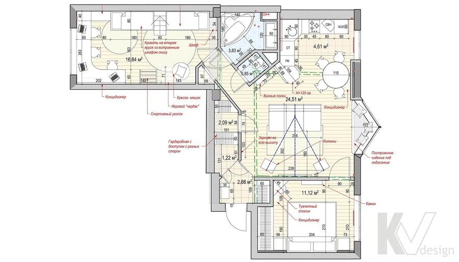 Перепланировка квартиры на Ленинском проспекте