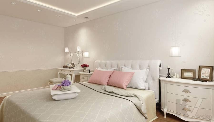 дизайн спальни в 3-комнатной квартире П-44Т - 2