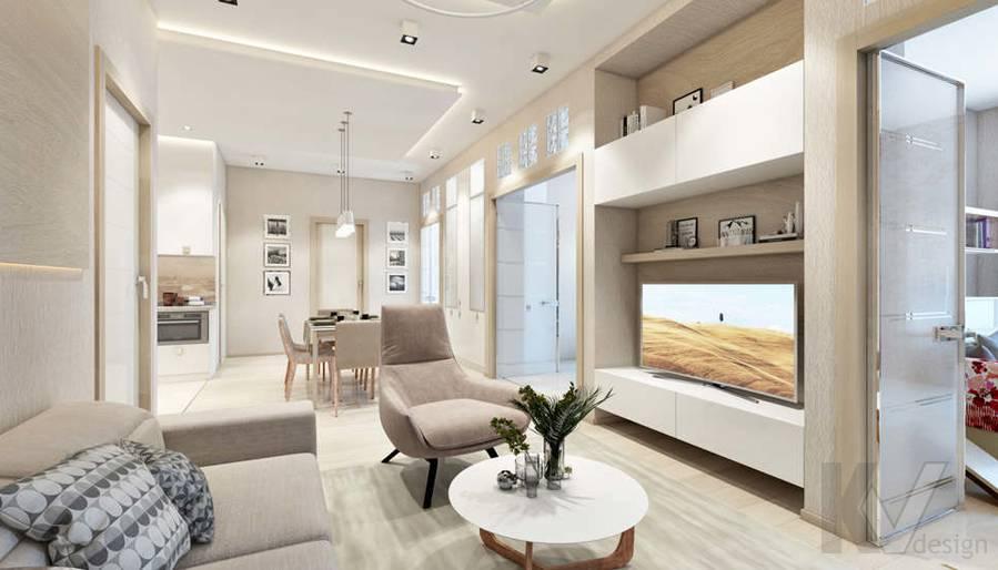 Дизайн гостиной в квартире, ЖК Авеню-77 - 1