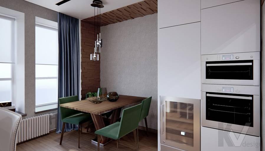 Гостиная в 3-комн. квартире на Варшавском шоссе - 7