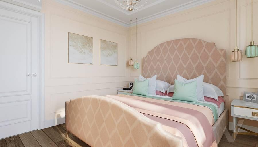 Дизайн спальни в квартире на м. Смоленская - 4