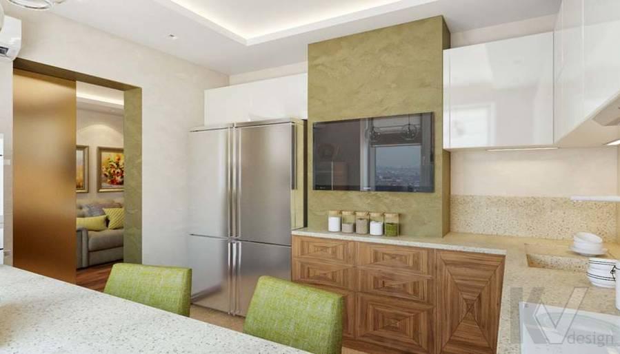дизайн кухни в четырехкомнатной квартире П-3М - 1
