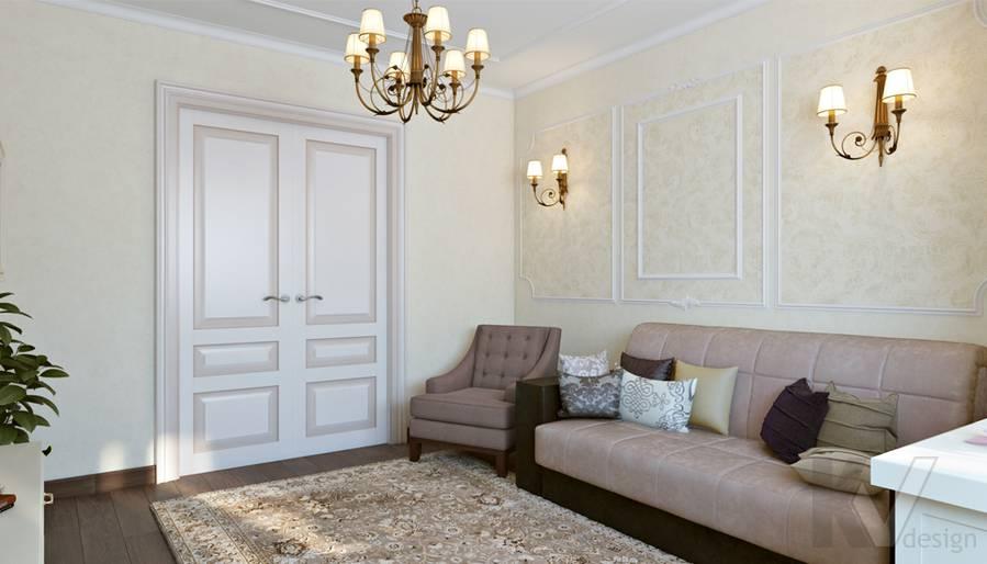 Гостиная в 3-комнатной квартире П-44Т, Люблино - 3