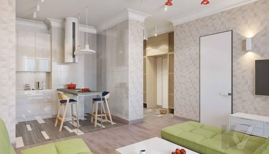 дизайн кухни, квартира на Мосфильмовской - 1