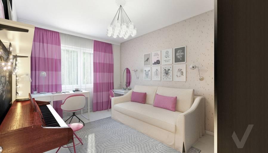 Комната девочки в 2-комнатной квартире П-111М, Тропарево - 4