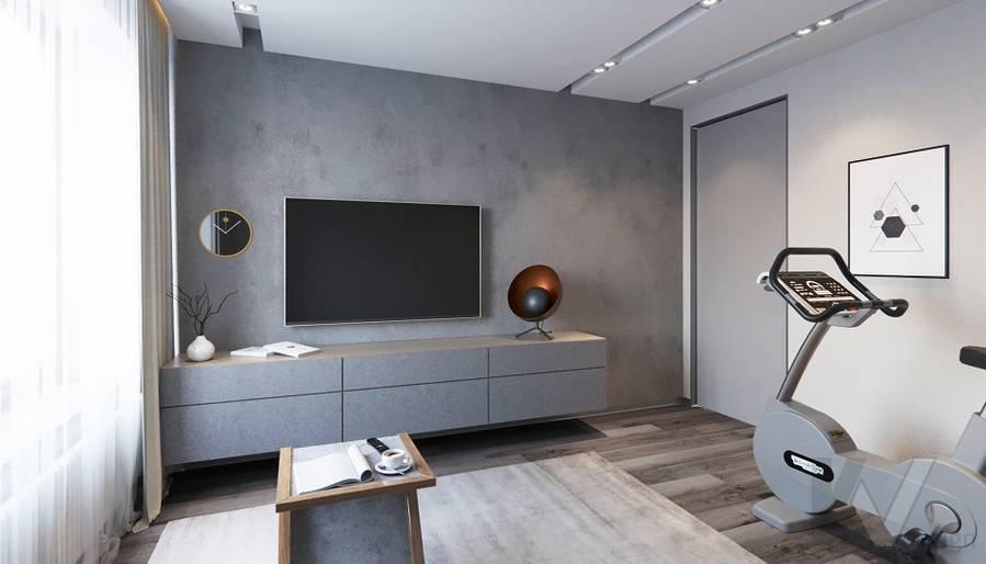 Спальня в проекте объединения квартир, Мытищи - 3