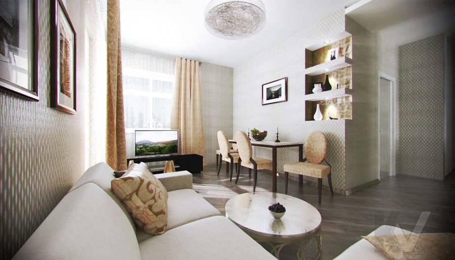 Дизайн квартиры на Старом Арбате, гостиная - 2