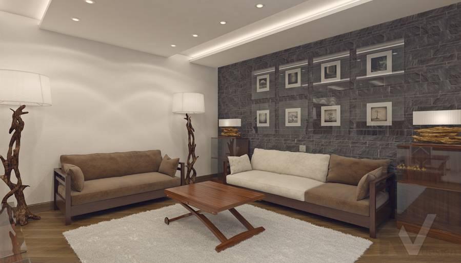 Дизайн гостиной в 4-комнатной квартире, м. Киевская - 5