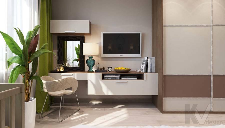 дизайн спальни в 3-комнатной квартире, Митино - 2