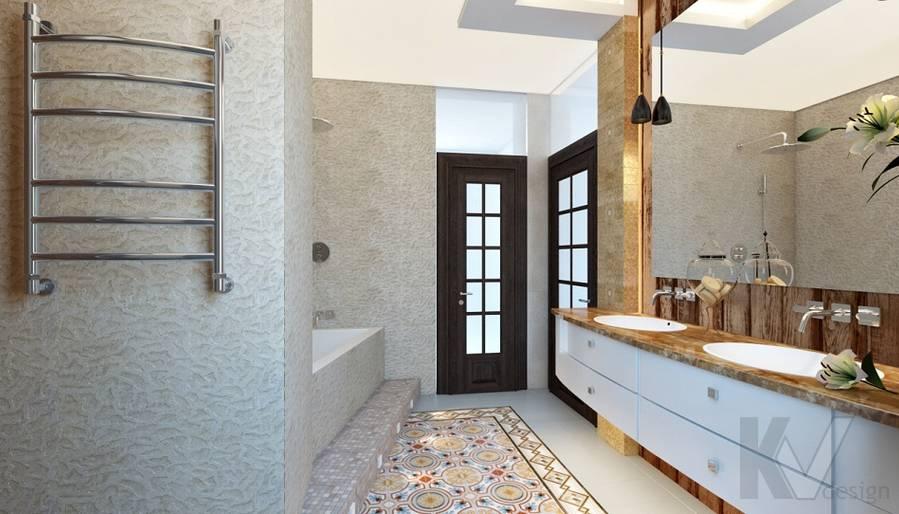 Дизайн ванной комнаты в трехэтажном доме - 4