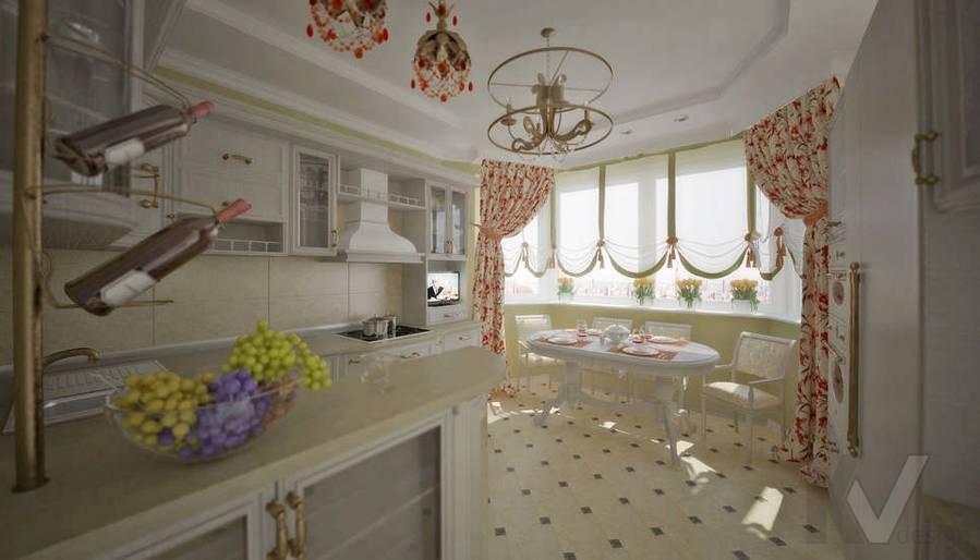 дизайн кухни квартиры П 44 Т