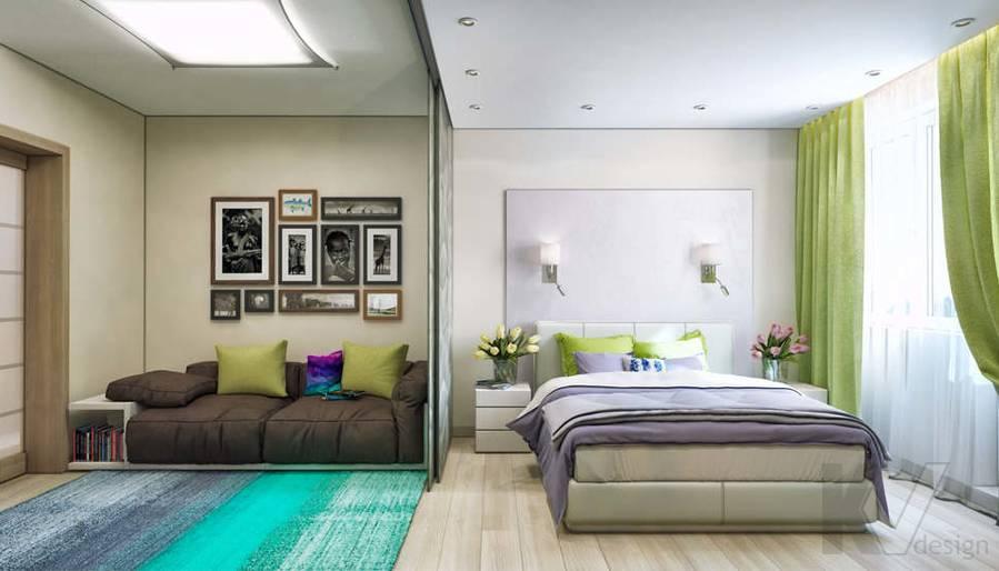 дизайн гостиной-спальни серии П-3, Новое Ясенево - 1
