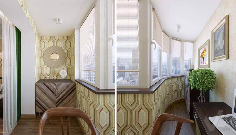 дизайн балкона в четырехкомнатной квартире П-3М - 2