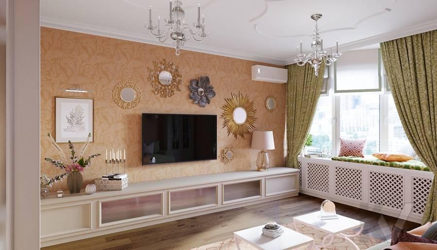 Дизайн гостиной в квартире на м. Смоленская - 2