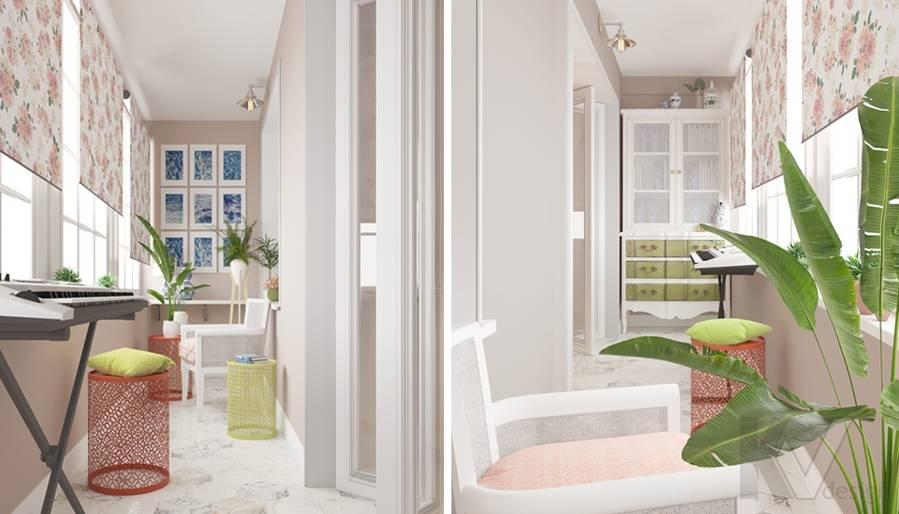 дизайн гостиной-кухни в 3-комн. квартире башни Вулыха - 7