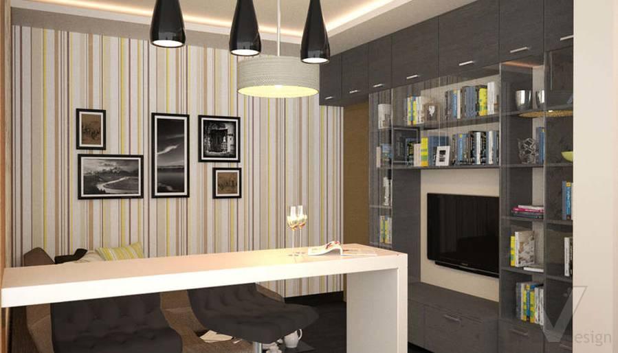 Дизайн гостиной в двухкомнатной квартире, Подольск - 1