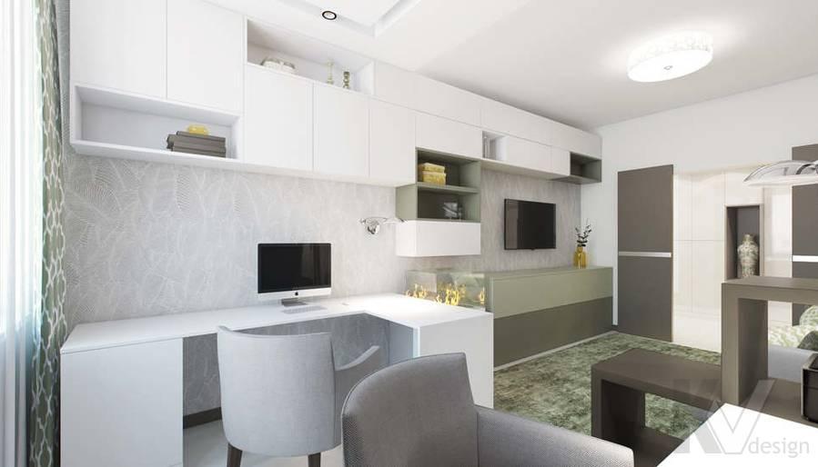 Дизайн гостиной в 3-комнатной квартире П-3М, Новое Ясенево - 5