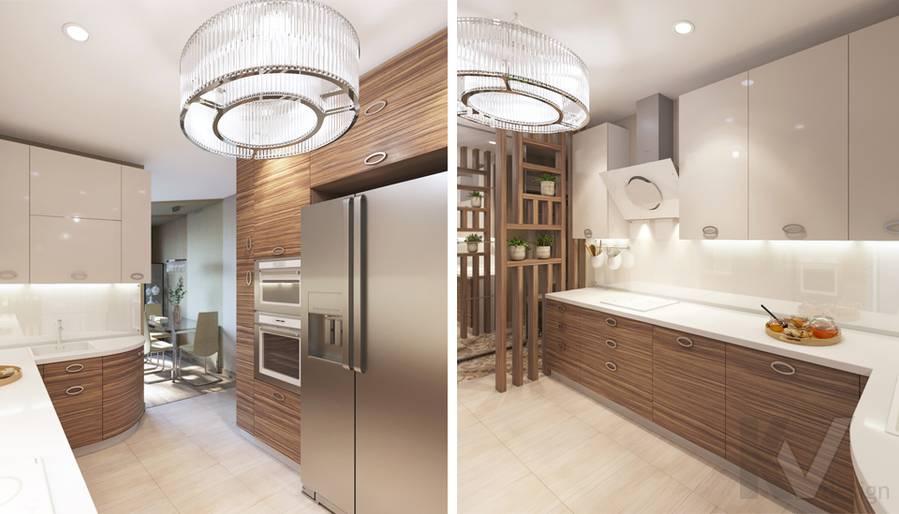 дизайн кухни в 3-комнатной квартире, Welton Park - 5