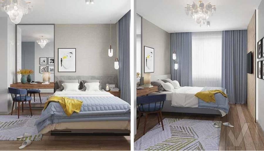 Дизайн спальни в квартире серии П-3М, Южное Бутово - 5