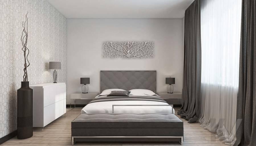 дизайн спальни в 3-комн. квартире на Сухаревской - 1