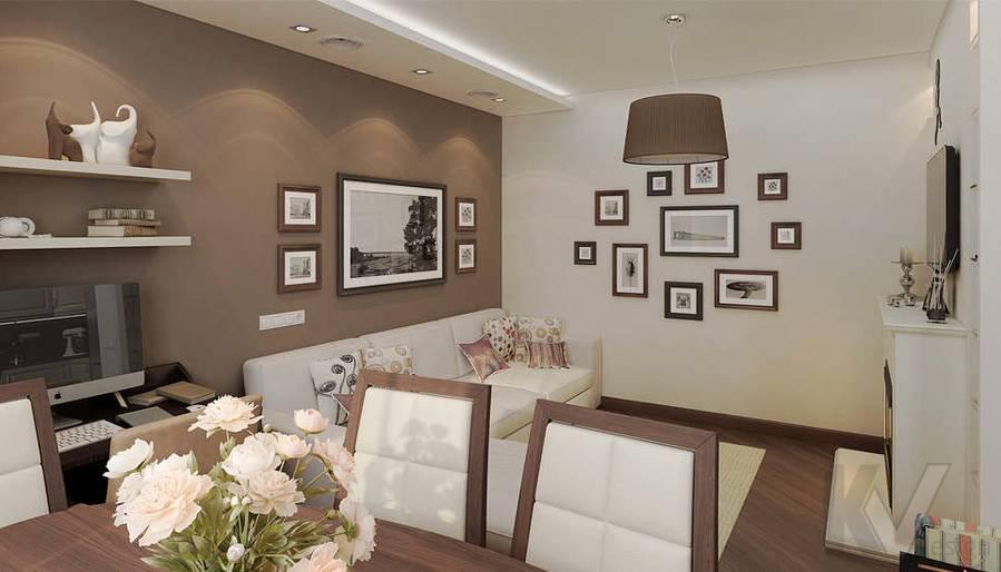 Дизайн 3 комнатной квартиры ЖК Богородский, гостиная - 4