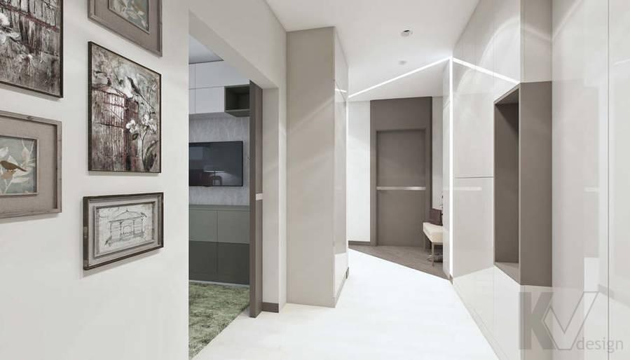 Дизайн прихожей в 3-комнатной квартире П-3М, Новое Ясенево - 5