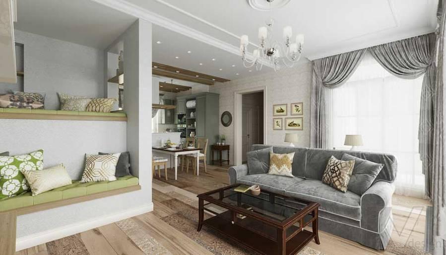 Гостиная в будущем доме в Софрино - 1