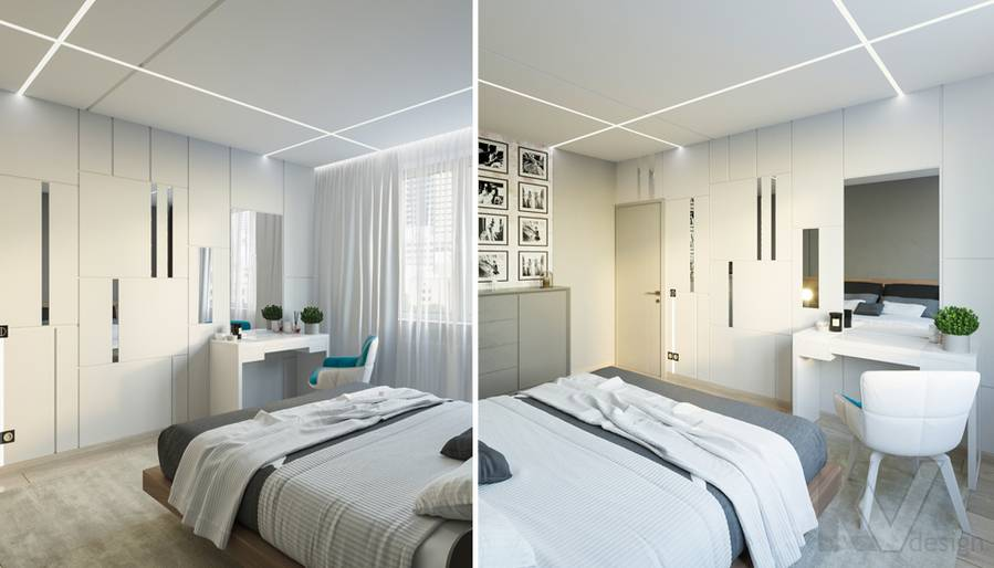 Спальня в 3-комнатной квартире П-44Т, Медведково - 5
