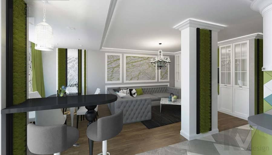 Дизайн гостиной в 5-комнатной квартире, Климовск - 6