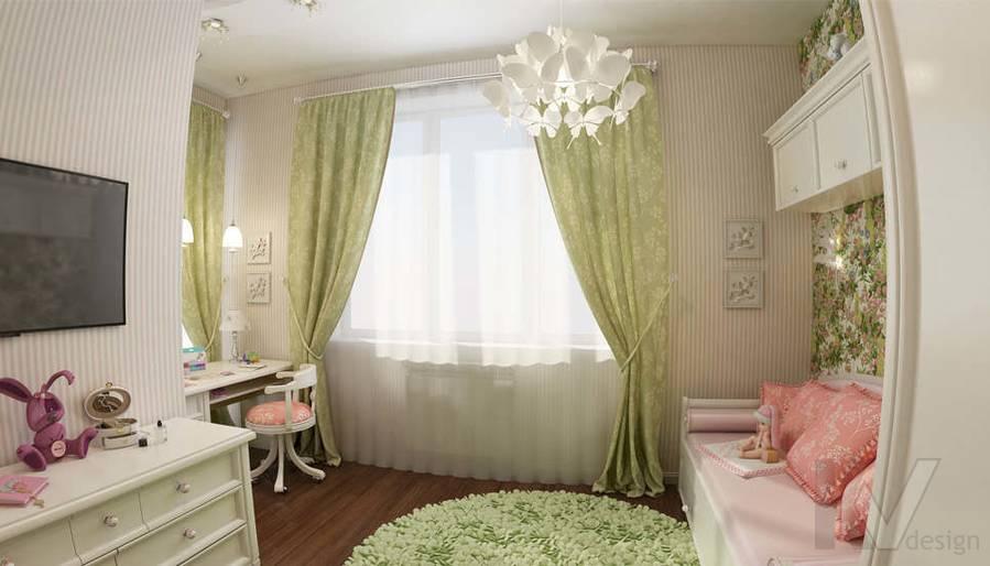 дизайн комнаты девочки в ЖК Лосиный Остров - 1