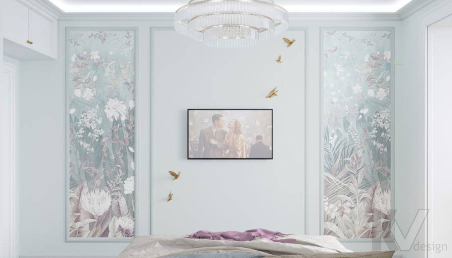 Дизайн спальни в ЖК Тимирязев Парк - 2
