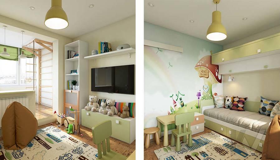 Дизайн детской в 2-комнатной квартире П-44Т, Московский - 5