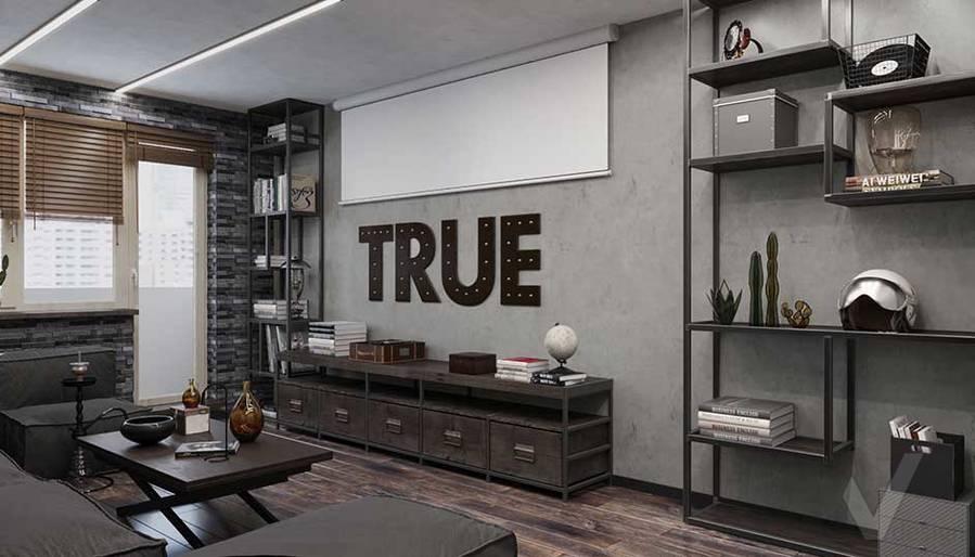 Дизайн гостиной в квартире П-44, м. Кузьминки - 2