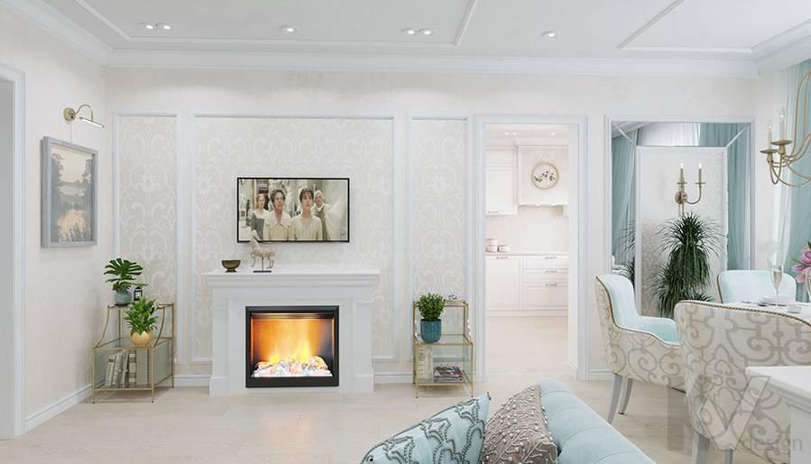 Дизайн гостиной в квартире серии П-3, м. Братиславская - 3