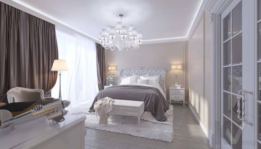 Дизайн спальни в доме, КП «Парк Авеню» - 1