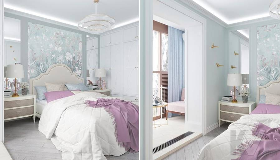 Дизайн спальни в ЖК Тимирязев Парк - 4