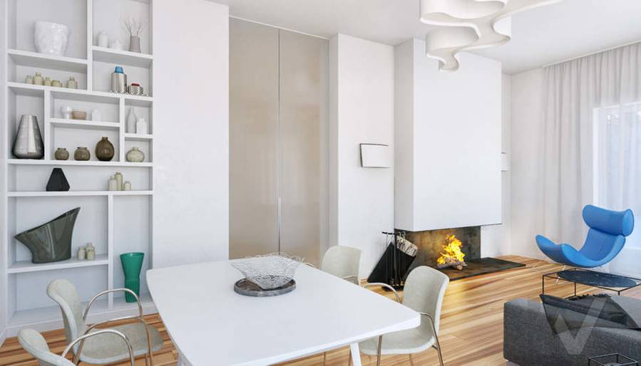 Дизайн гостиной в доме, КП Пестово - 2