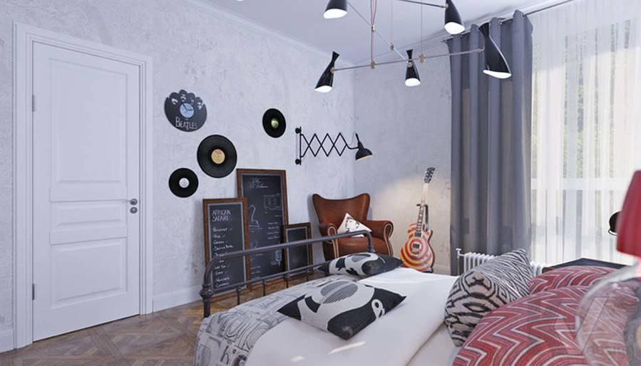 Дизайн спальни дочери в доме, КП Монтевиль - 1