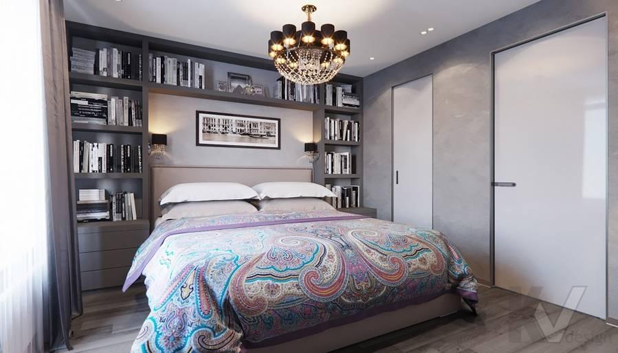 Спальня в проекте объединения квартир, Мытищи - 9