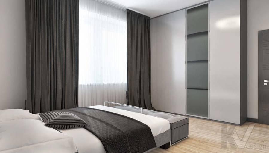 дизайн спальни в 3-комн. квартире на Сухаревской - 3