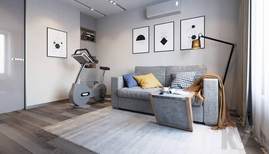 Спальня в проекте объединения квартир, Мытищи - 2