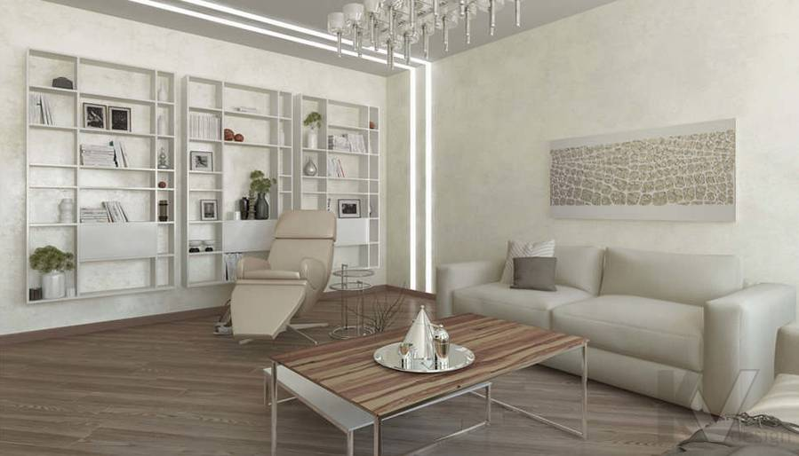 дизайн гостиной в 3-комнатной сталинке, Старый Арбат - 4