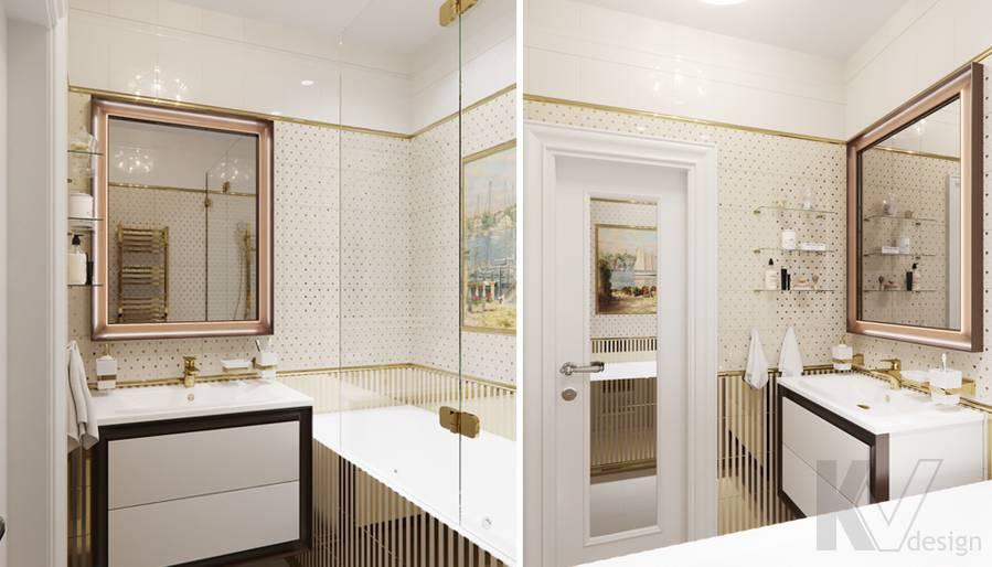 Дизайн ванной в квартире в Крылатском - 1