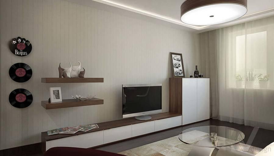 Дизайн двухкомнатной квартиры, Подольск
