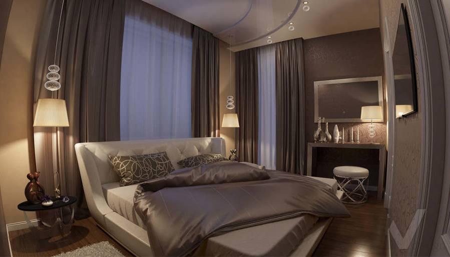 дизайн спальни в ЖК Лосиный Остров - 1