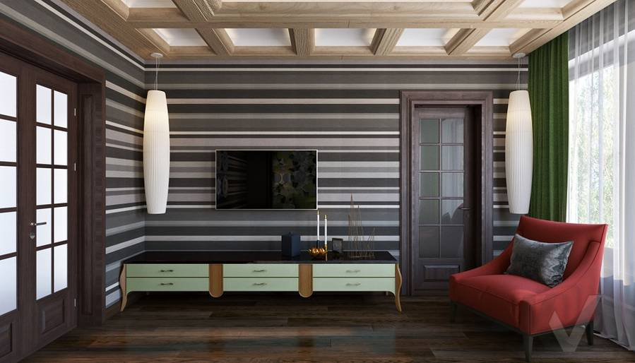 Дизайн спальни в трехэтажном доме - 4